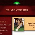 Biliardcentrum.hu webáruház – snooker asztalok, dákók, kiegészítők
