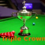 Triple Crown snooker győzelem fogalma